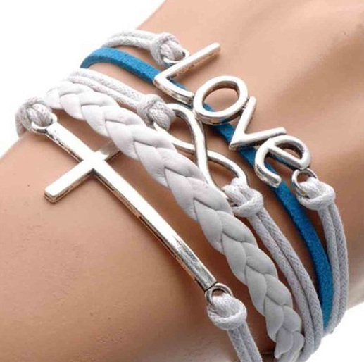 Leather Love Wrap Bracelet Only $0.99 + FREE Shipping!