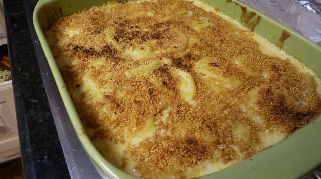 Scalloped Potatoes with Cheesy Bechamel Sauce!