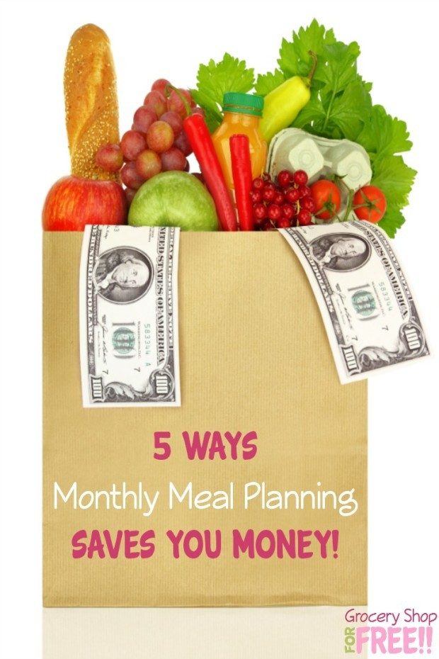 5 Ways Monthly Meal Planning Saves You Money!