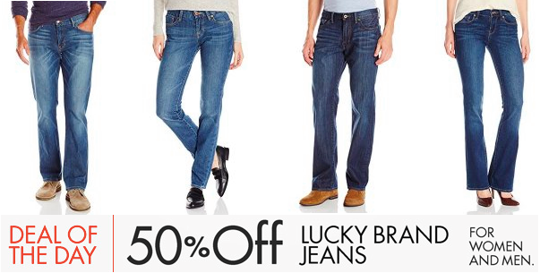 Up To 50% OFF Lucky Brand Jeans for Women, Men and Kids!