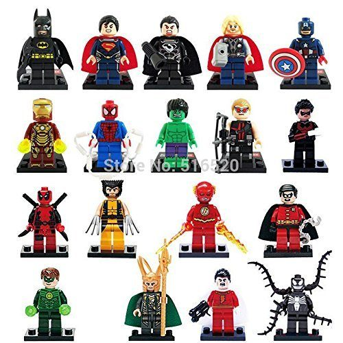 18 Pc Set Marvel Super Heroes Collection Building Bricks Figures (Compatible With LEGO) Only $12.90 With FREE Shipping!