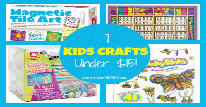 7 Kids Crafts Under $15!