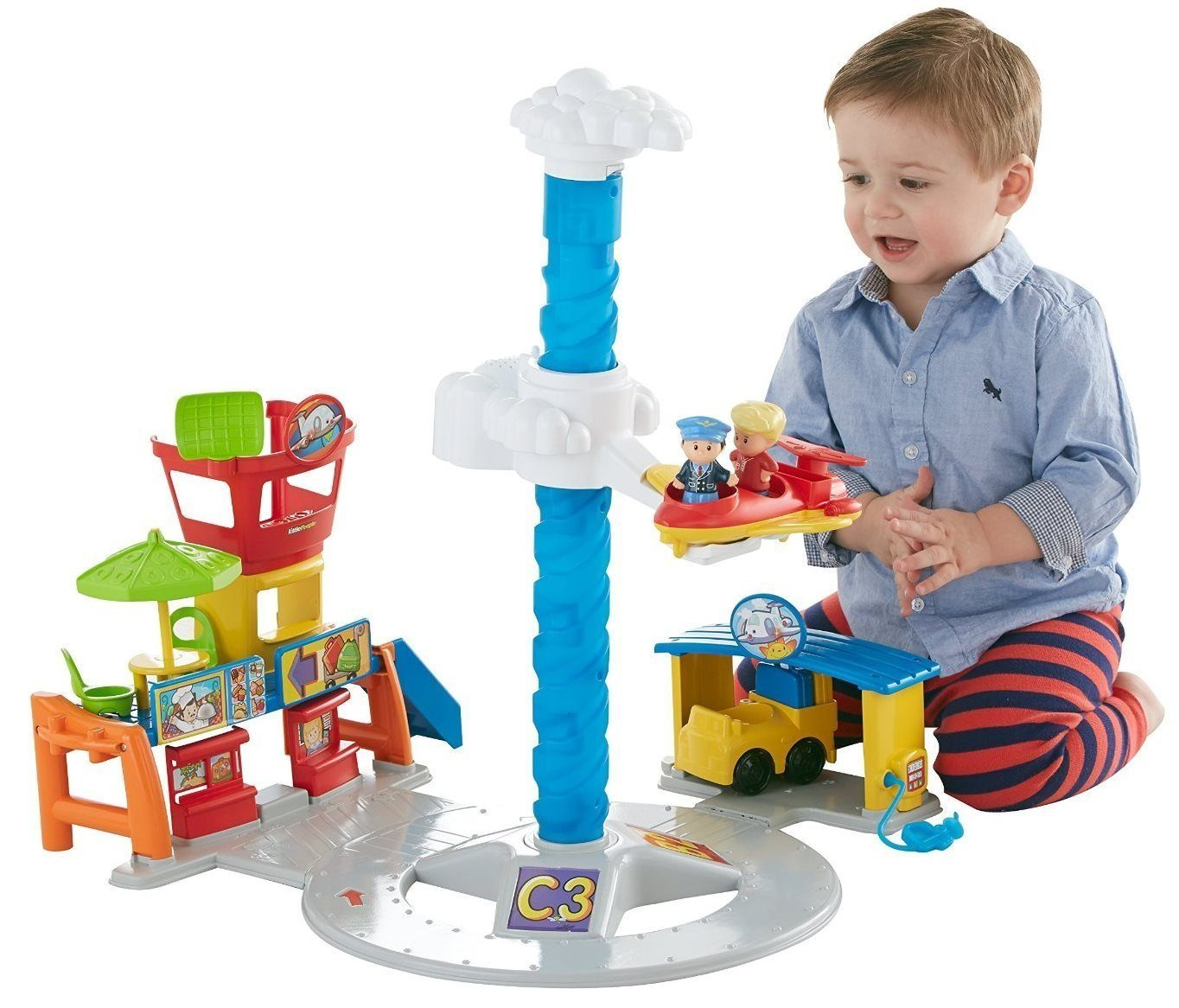 Fisher-Price Little People Spinnin' Sounds Airport Only $29.99!