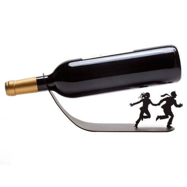 "Wine Bottle Holder ""Wine For Your Life"" Black Metal Designed Rack Stand Only $14.99 (Reg. $224 ??)!"