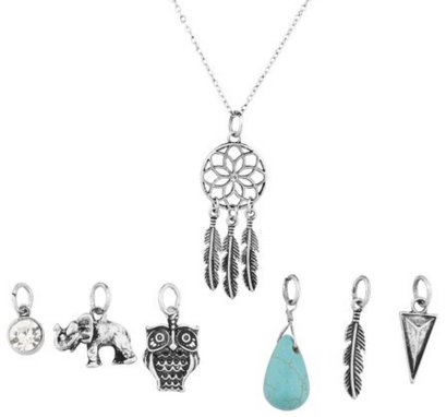 Interchangeable Charm Pendant Necklace (7 Charms) Just $10 Down From $13!