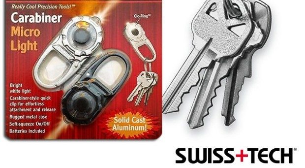 2 Pack Swiss Tech Solid Cast Aluminum Carabiner Micro Light Keychain Only $4.99 Plus FREE Shipping!