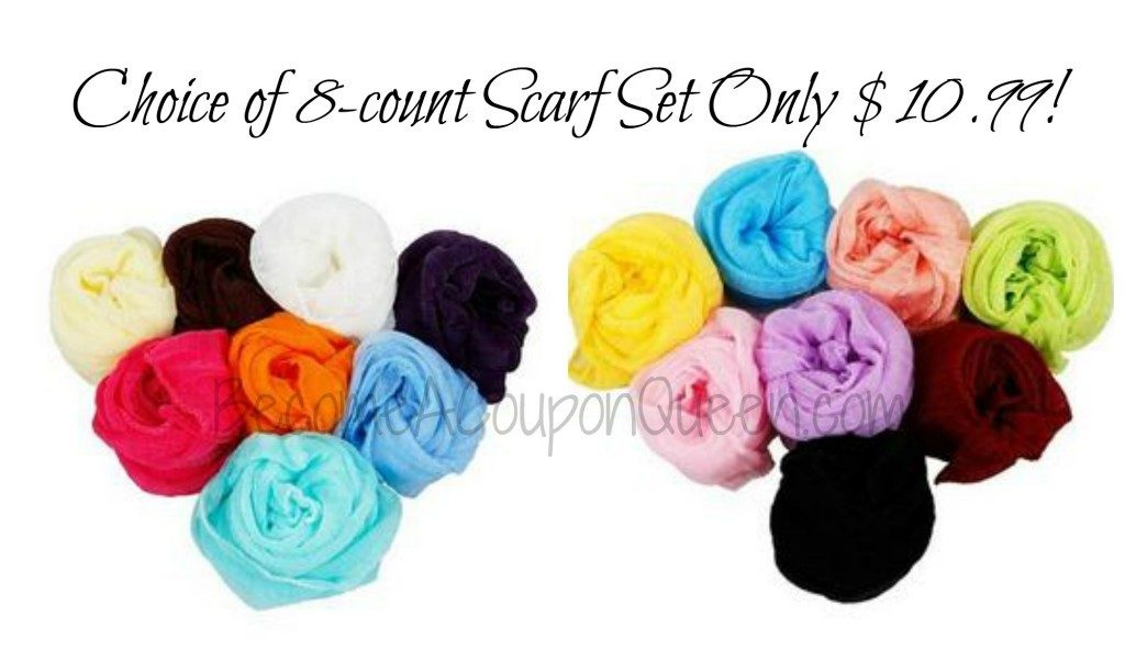 8 count scarf set