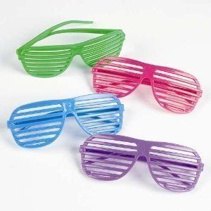 80s shutter shade sunglasses