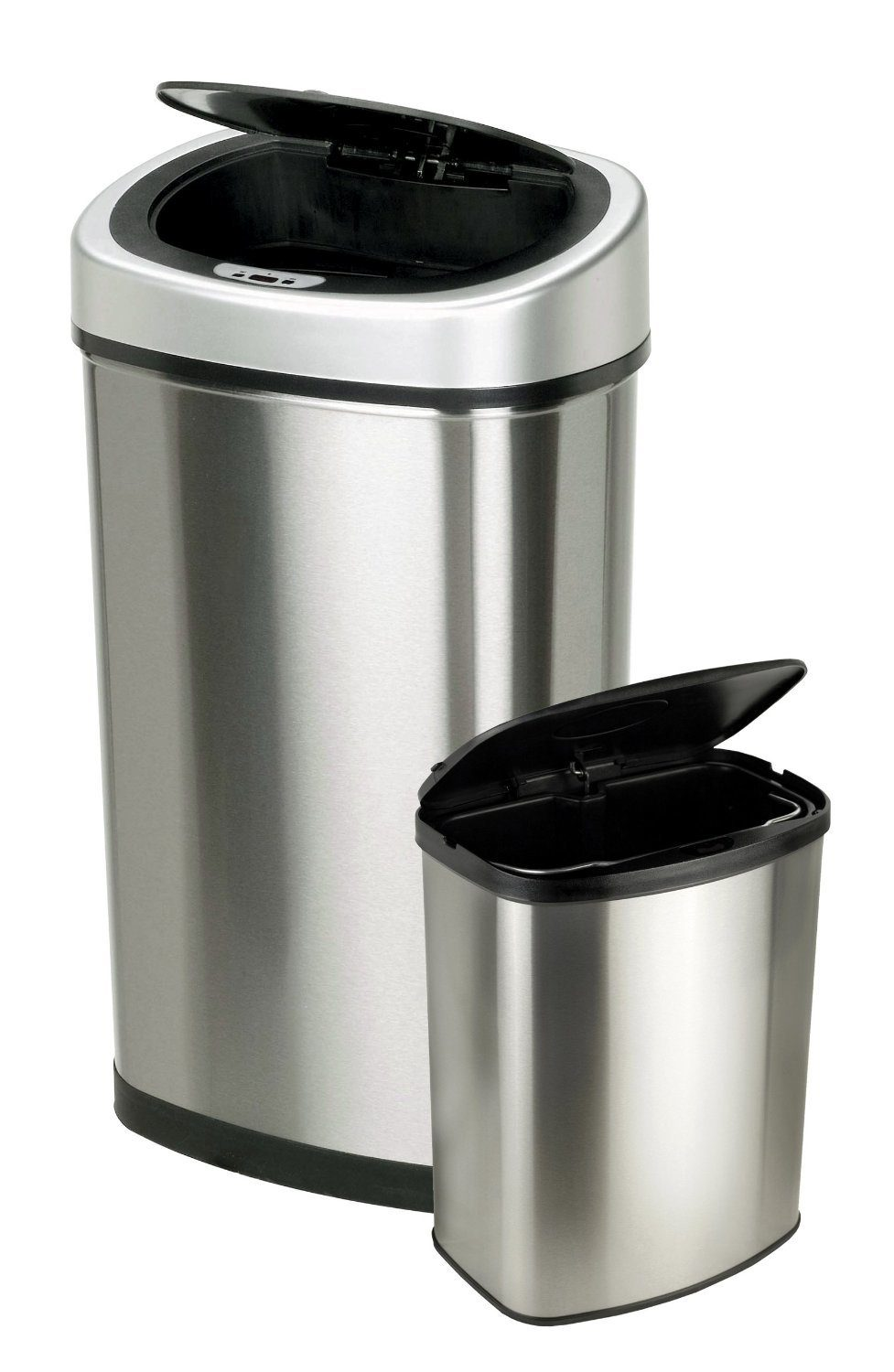 Nine Stars Touchless Automatic Motion Sensor Trash Can, Set of 2 Only $49.98 With FREE Shipping!