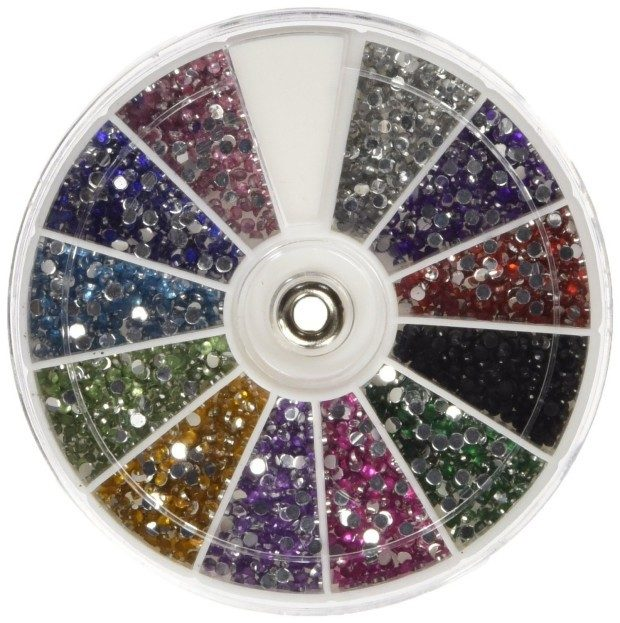 MASH Rhinestones 2400 Piece 12 Color Nail Art Wheel Only $1.66 With FREE Shipping (Reg. $12.99)!