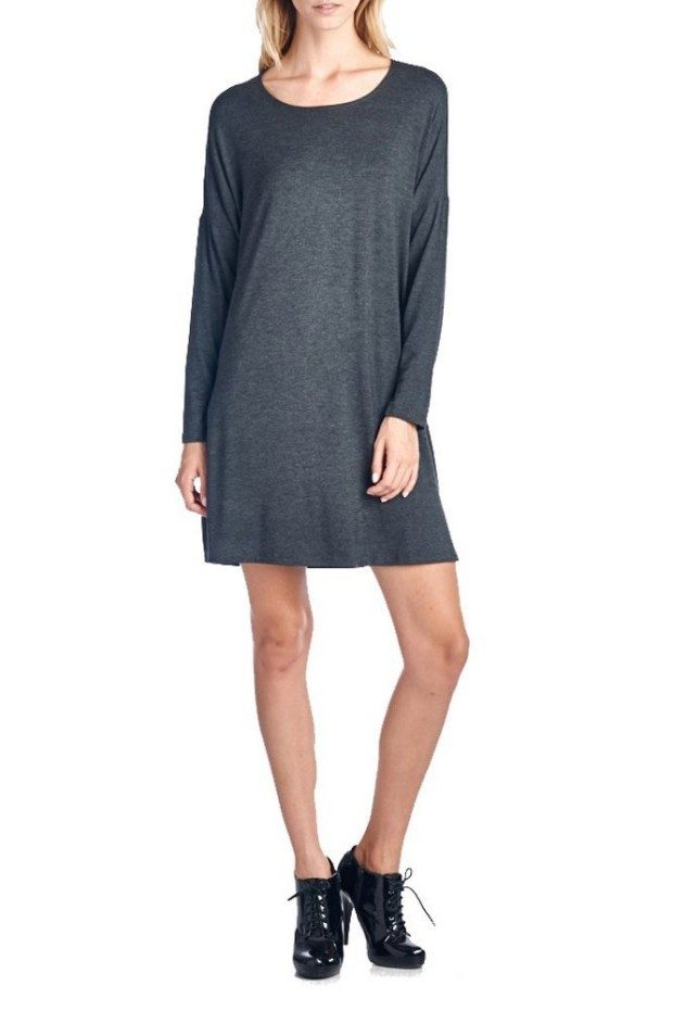 Basic Round Neck Long Sleeves Dress Only $19.95! Down From $40!