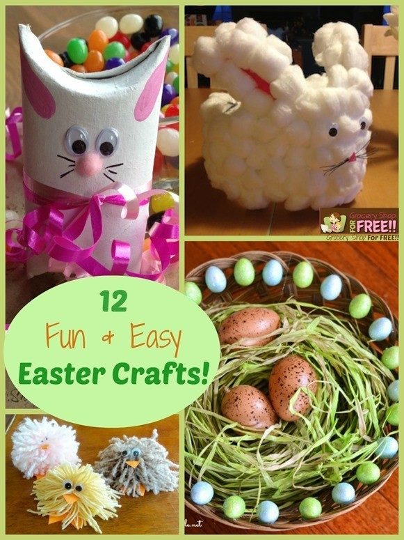 12 Fun And Easy Easter Crafts!