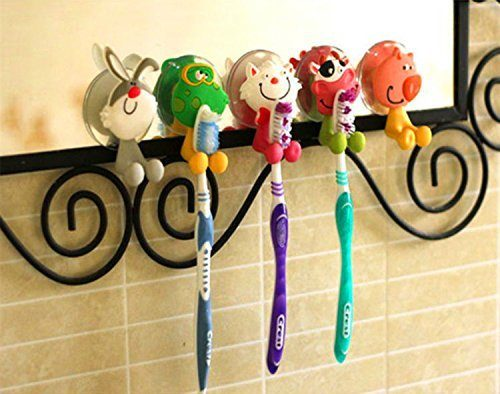 Set of 5 Antibacterial Animal Toothbrush Holders Just $4.93 + FREE Shipping!