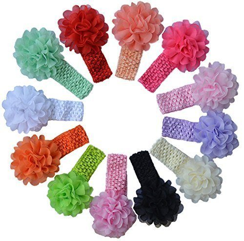 Baby Girl's Headbands Chiffon Hair Bow (12 pack) Just $9.99!