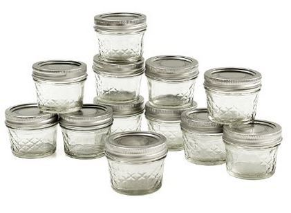 Ball Jar Crystal Jelly Jars with Lids and Bands, Quilted, 4-Ounce, Set of 12 Just $7.99!