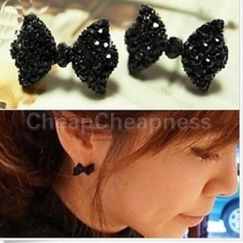 Black Bow Earrings Only $2.80 + FREE Shipping!