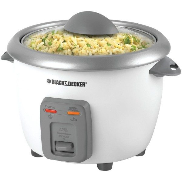 Black & Decker 3-Cup Dry/6-Cup Cooked Rice Cooker Just $13.88! (reg. $24.99)