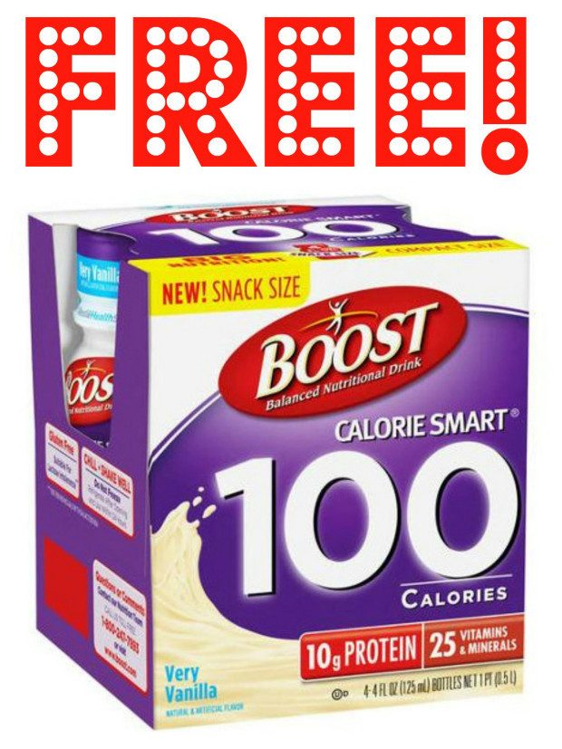 FREE Boost Calorie Smart 100 Calorie Nutritional Drink!