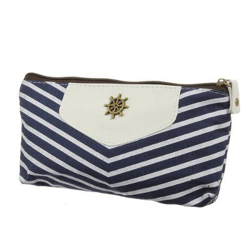 Canvas Navy Style Zipper Pouch Just $2.35 + FREE Shipping!