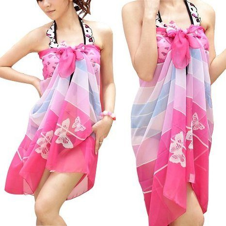Chiffon Floral Swimwear Cover Up Just $3.34 + FREE Shipping!