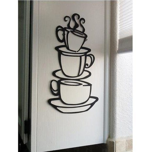 Coffee Cup Vinyl Wall Decal Only $2.08 + FREE Shipping!