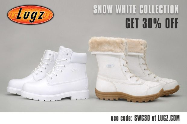 "Lugz Introduces ""Snow White"" Collection With 30% Off!"