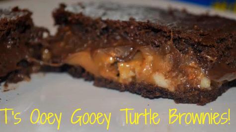 Ooey Gooey Turtle Brownies!