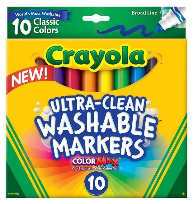 Crayola Ultraclean Broadline Classic Washable Markers (10 Count) Just $1.97!