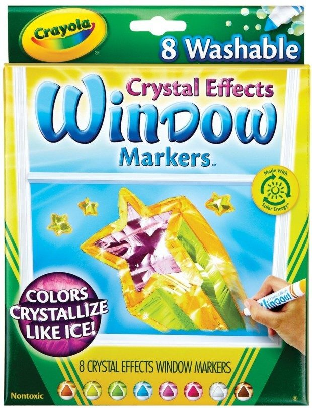 Crayola Window Markers with Crystal Effects Just $2!