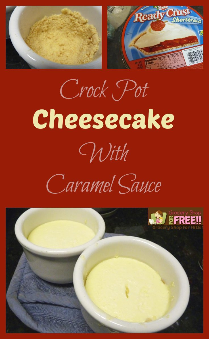 Crock Pot Cheesecake With Caramel Sauce