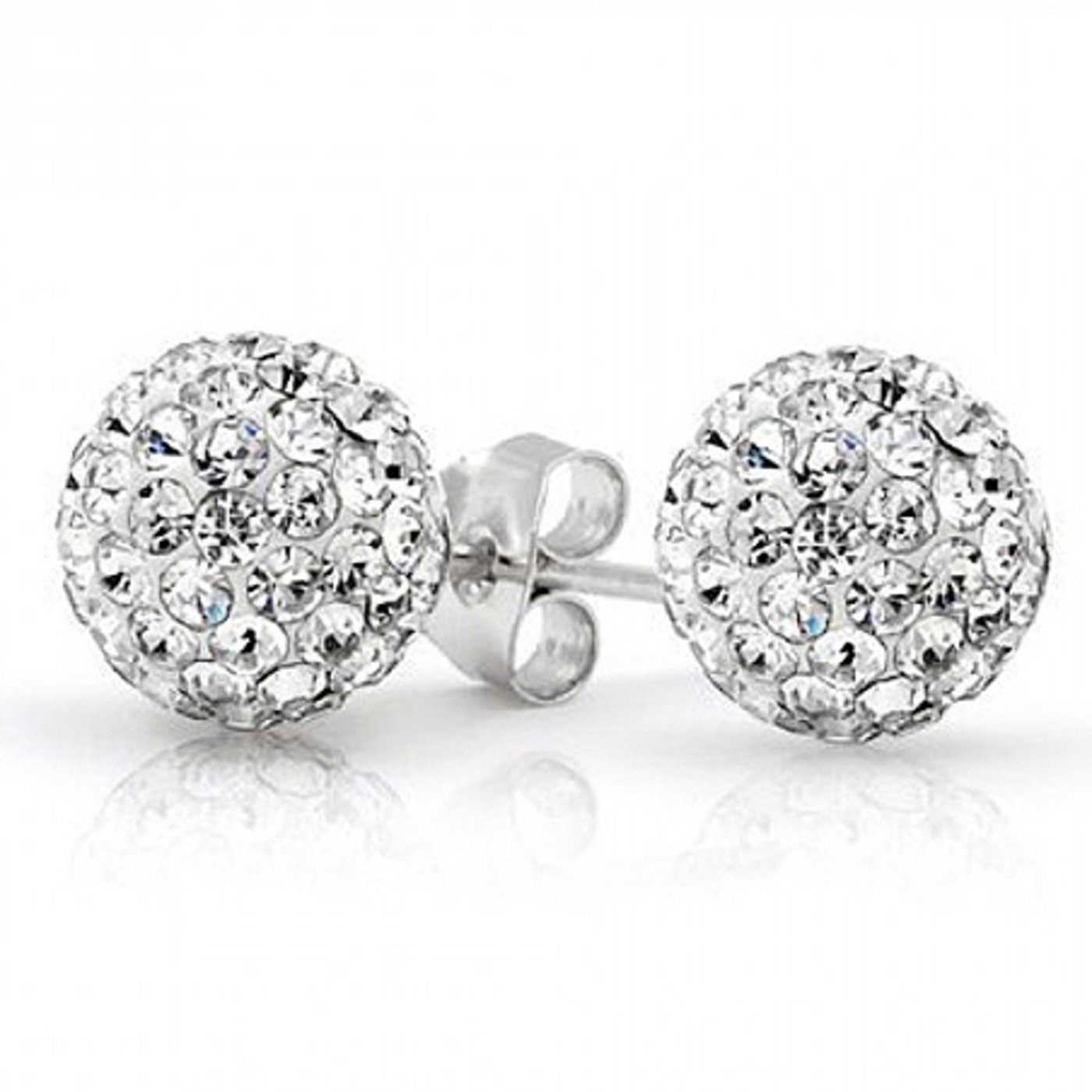 2 Ct Swarovski Crystal Ball Studs ONLY $4.99 + FREE Shipping (was $75)!