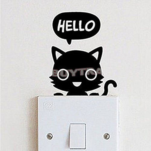 Cute Cat Wall Switch Sticker Only $0.99 + FREE Shipping!