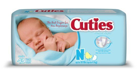 Cuties Baby Diapers, Jumbo Pack Just $3.50!