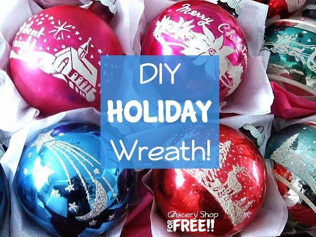 DIY Holiday Wreath!