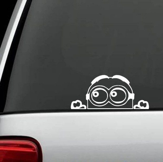 Despicable Me Peeking Decal Sticker for Car Just $2.49 + FREE Shipping!