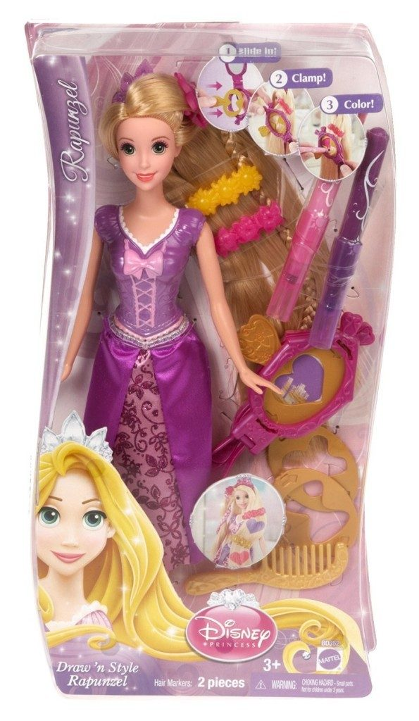 Disney Princess Draw 'n Style Hair Rapunzel Doll Just $7.15! Best Price!