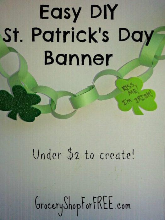 Easy DIY St Patrick's Day Banner