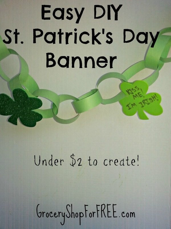 Easy Kid's DIY St. Patrick's Day Banner