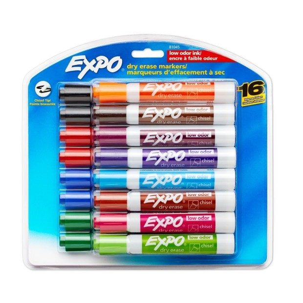 Expo 2 Low-Odor Dry Erase Markers, Chisel Tip, 16-Pack Just $10.10 + FREE Shipping! (Reg. $24.99)