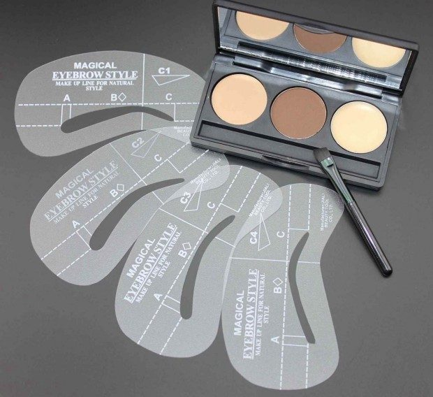Eyebrow Cosmetic Shading Kit With Stencils Only $5.50 + FREE Shipping!