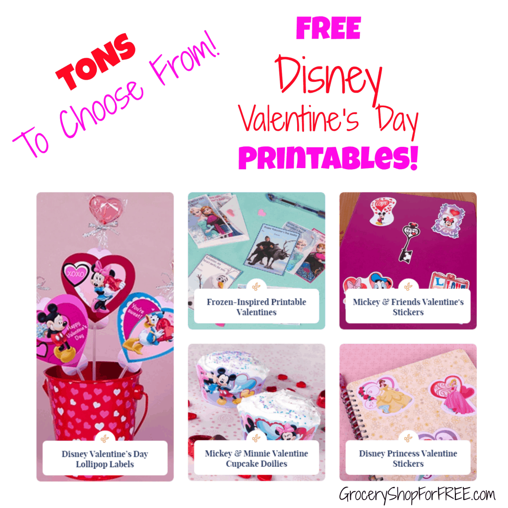FREE  Disney Valentine's Day   Printables!