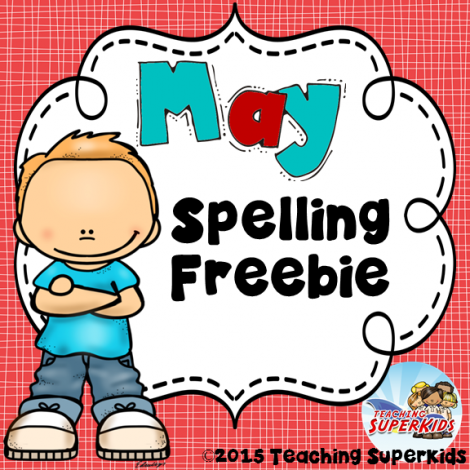 FREE May Spelling Game!