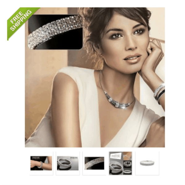Swarovski Elements Triple-Tiered Austrian Crystal Bracelet Only $6.99 + FREE Shipping!