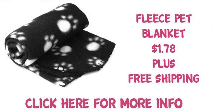 Fleece Pet Blanket Just $2.22 PLUS FREE Shipping!