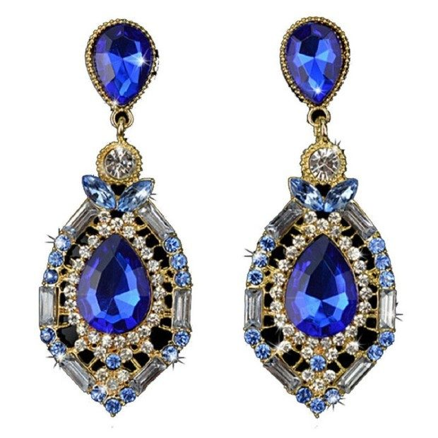 Gorgeous Sparkling Crystal Teardrop Earrings Only $2.99 + FREE Shipping!