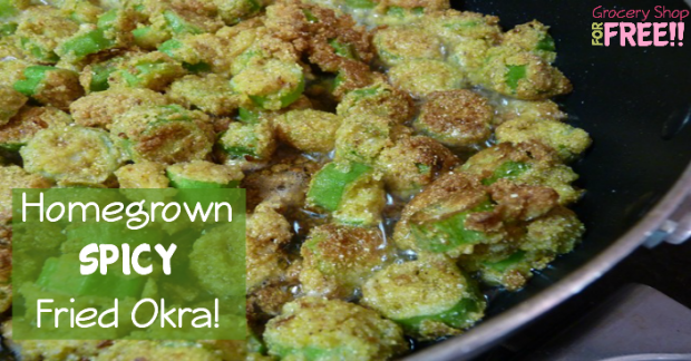 Homegrown Spicy Fried Okra!