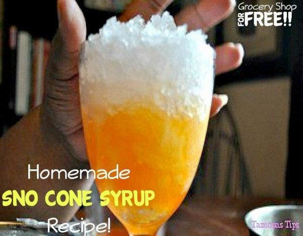 Homemade Sno Cone Recipe!