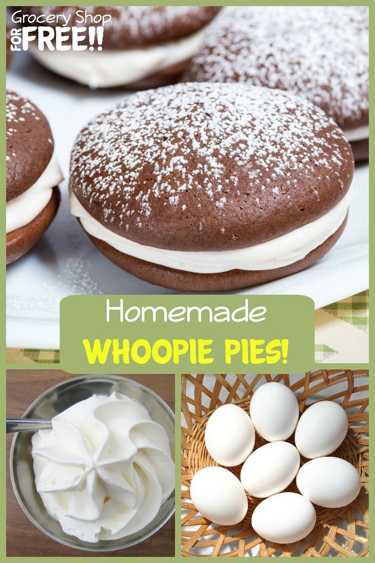 If you're looking for a sweet treat for your family or to serve to a crowd this Whoopie Pie recipe is simple and delicious as well as a crowd pleaser.  You can make these up in less than an hour and look like you've been baking all day!