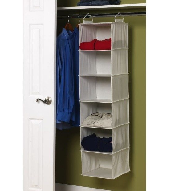 Household Essentials 6-Shelf Hanging Closet Organizer $9.99! (reg. $21.99)
