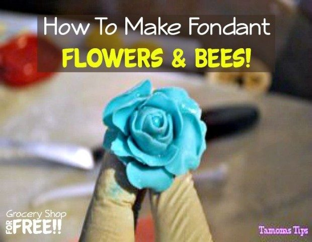 How To Make Fondant Flowers & Bees!